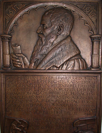 Christian Beyer - Dr. Christian Beyer epitaph in Kleinlangheim, Franconia