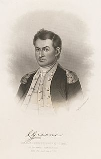 Christopher Greene Continental Army officer, colonel of the African American 1st Rhode Island Regiment