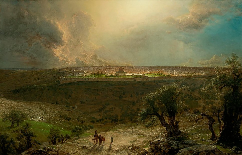 Church Frederick Edwin Jerusalem from the Mount of Olives