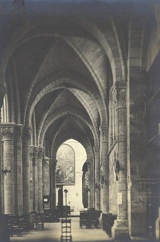 Notre-Dame-en-Vaux - Church of Notre Dame en Vaux, Chalons sur Marne, France, 1903. No number. Right aisle