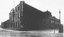 The Churchill Machine Tool Co Ltd factory at Pendleton, Salford