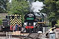 Churston - 35028 being turned (Torbay Express 2018) and 2192.JPG