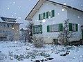Chute de neige dans la maison des grands-parents, Ennetbürgen 24-03-2009.jpg