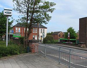 Cinderhill tram stop - Image: Cinderhill Tram Stop 4 (former colliery railway bridge) (geograph 1869456)