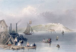 "Fort Henry, Ontario - View of Fort Henry, 1841. Hand colored engraving, ""Citadel of Kingston"", by William Henry Bartlett (1809–1854)"