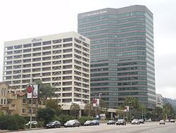The Citibank (l) and City National Bank (r) Buildings in Sherman Oaks