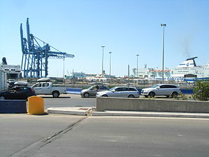 Civitavecchia - View of the port.