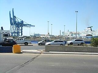 Port of Civitavecchia international seaport in Metropolitan City of Rome, Italy, European Union