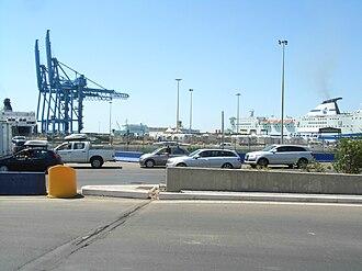 Civitavecchia - View of the port.