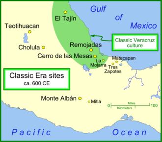 La Mojarra - La Mojarra and other Classic era sites.