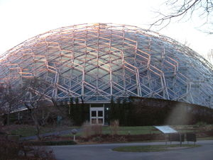 Geodesic dome - The Climatron greenhouse at Missouri Botanical Gardens, built in 1960 and designed by Thomas C. Howard of Synergetics, Inc., inspired the domes in the science fiction movie Silent Running