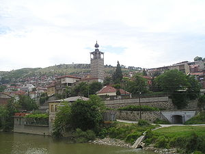 Veles, Macedonia - The clocktower in Veles