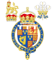 Coat of Arms of the Stuart Princes of Wales (1610-1688) Variant 1.svg