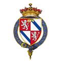 Coat of arms of Louis de Duras, 2nd Earl of Feversham, KG.png