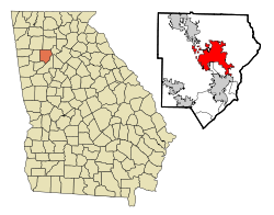 Location in Cobb County and the state of Georgia
