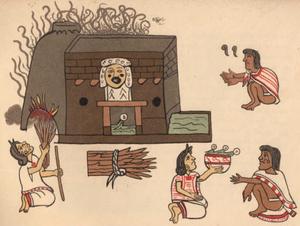 Temazcal - temāzcalli from the Codex Magliabecchi