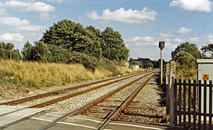 Codford railway station - The station site in 1984