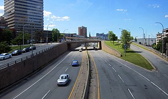 Highway revolt - The Cogswell Interchange in Halifax, Nova Scotia, the only remnant of a downtown highway cancelled due to public protest