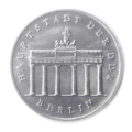 Coin 5 Mark DDR 1987 Berlin Brandenburger Tor (face).png