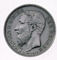 Coin BE 1F Leopold II shield obv NL 25.png