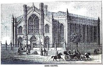 Thomas Coke (bishop) - Coke Chapel, Kingston, Jamaica (April 1852)
