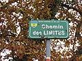 Col de la Croix du Ban - Chemin des Limites (plaque Saint-Pierre-la-Palud).jpg