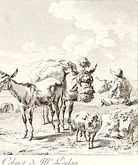 Shepherd with Cattle and Mules