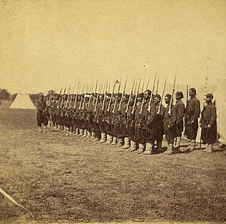 5th New York Veteran Volunteer Infantry Regiment - Company E, 5th Regiment N.Y. Zouaves, at Camp Butler, Va