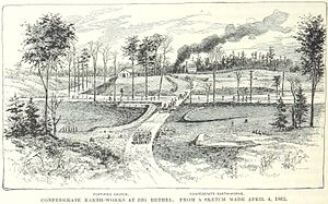 Battle of Big Bethel - Confederate earthworks at Big Bethel.