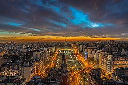 A panorama of a South American city