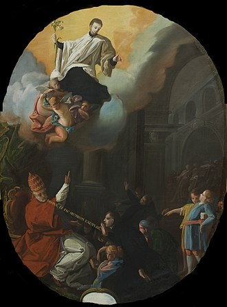 Consecration of Aloysius Gonzaga as patron saint of youth - Image: Consagración de San Luis Gonzaga