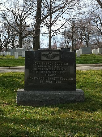 Grave at Arlington National Cemetery Constance-Bennett-grave.jpg