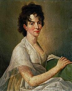 Моцарт Вольфганг Амадей Википедия Констанция Моцарт Портрет кисти Ганса Хассена 1802 год
