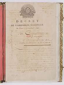 Constitution de 1791. Page 1 - Archives Nationales - AE-I-10-1.jpg