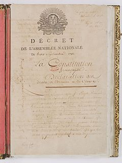 French Constitution of 1791 constitution