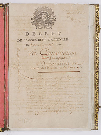 French Constitution of 1791 - French Constitution of 1791.