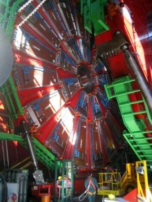 Experimental physics - A view of the CMS detector, an experimental endeavour of the LHC at CERN.