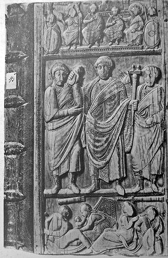 Constantius III - Consular diptych of Constantius III, produced for his consulate in 413 or 417.