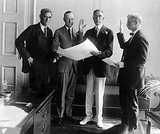 C. Bascom Slemp - Slemp being sworn in as presidential secretary, 1923