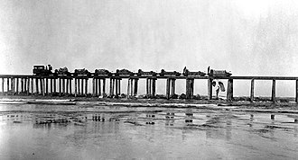 Coos Bay - Construction of the Coos Bay Jetty, 1890
