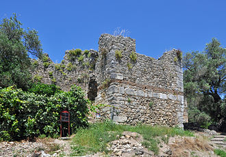 Gardiki Castle, Corfu - Detail of one of the towers of the castle