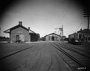 Cornwall Transit - CNR railway station in Cornwall, 1926