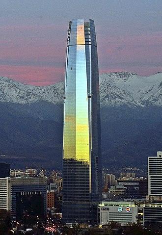 Santiago Province, Chile - The financial district in Santiago de Chile