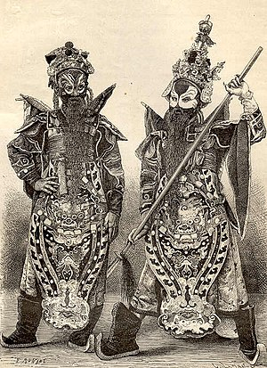 Hát tuồng - Costumes as warlords for Tuồng in Hue in 1874