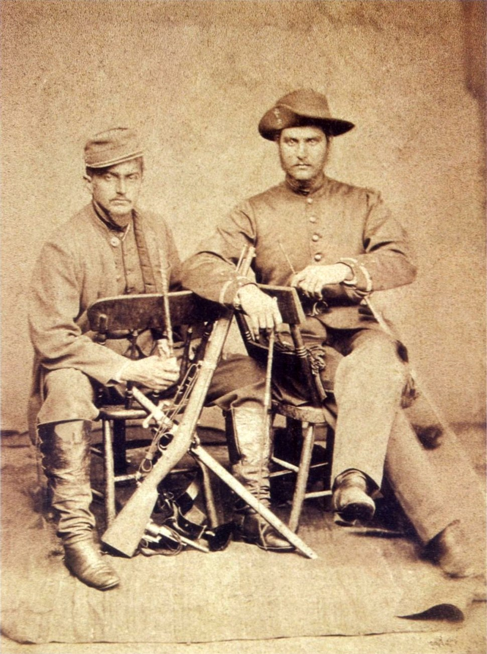 Couple of Brazilian officers in Paraguay