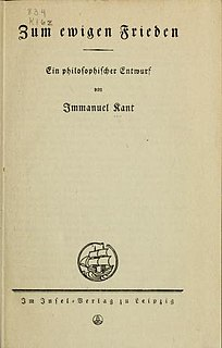 <i>Perpetual Peace: A Philosophical Sketch</i> essay by Immanuel Kant