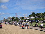 Cowes Princes Green and beach during Cowes Week 2011.JPG