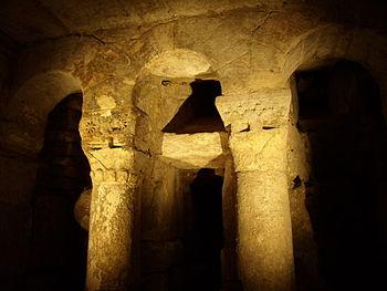 Restos visigodos de la Cripta