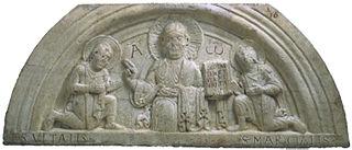 Cristo benedicente tra i santi Vitale e Marziale