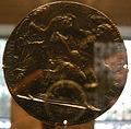 Cristoforo di Geremia, medaglia di alfonso V d'aragona, 1458, verso, alfonso incoronato da marte e bellona.JPG